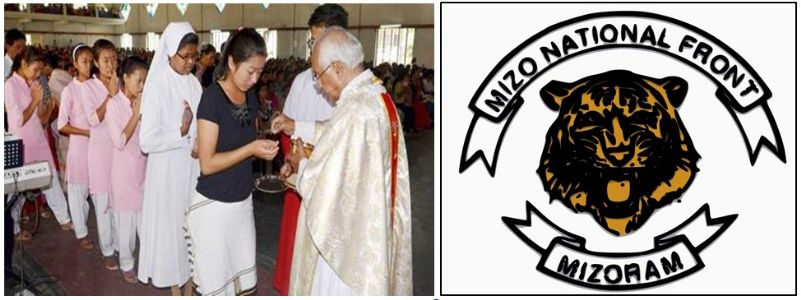 Christian churches role in the formation of the Mizo National Front (MNF).