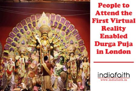 People to attend the first virtual reality enabled Durga Puja in London
