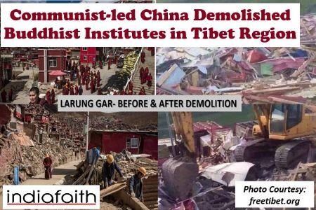 China destroys Buddhist education institutes in Tibet region