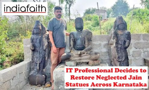 IT professional decides to restore neglected Jain statues across Karnataka