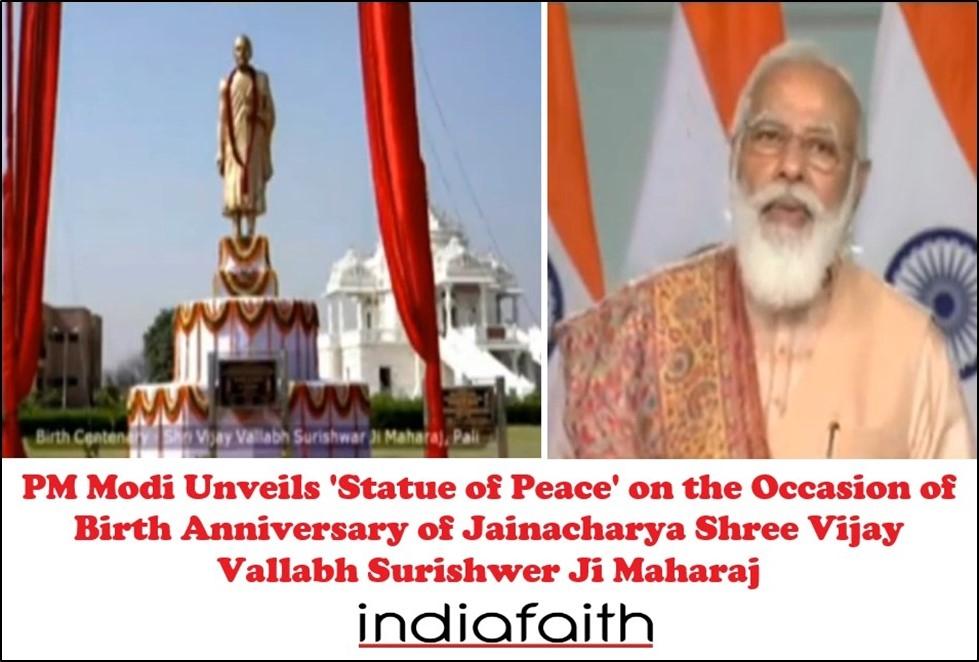 PM Modi unveils 'Statue o