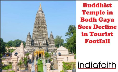 Buddhist Temple in Bodh Gaya sees decline in tourist footfall