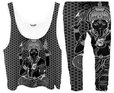 Ganesh print on cloths.jp