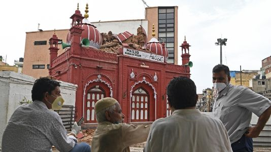 Heavy rain damages 19th-century mosque built by Hindu convert courtesan Mubarak Begum in Delhi