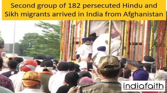 Persecuted 182 Hindus and Sikhs arrive in India from Afghanistan