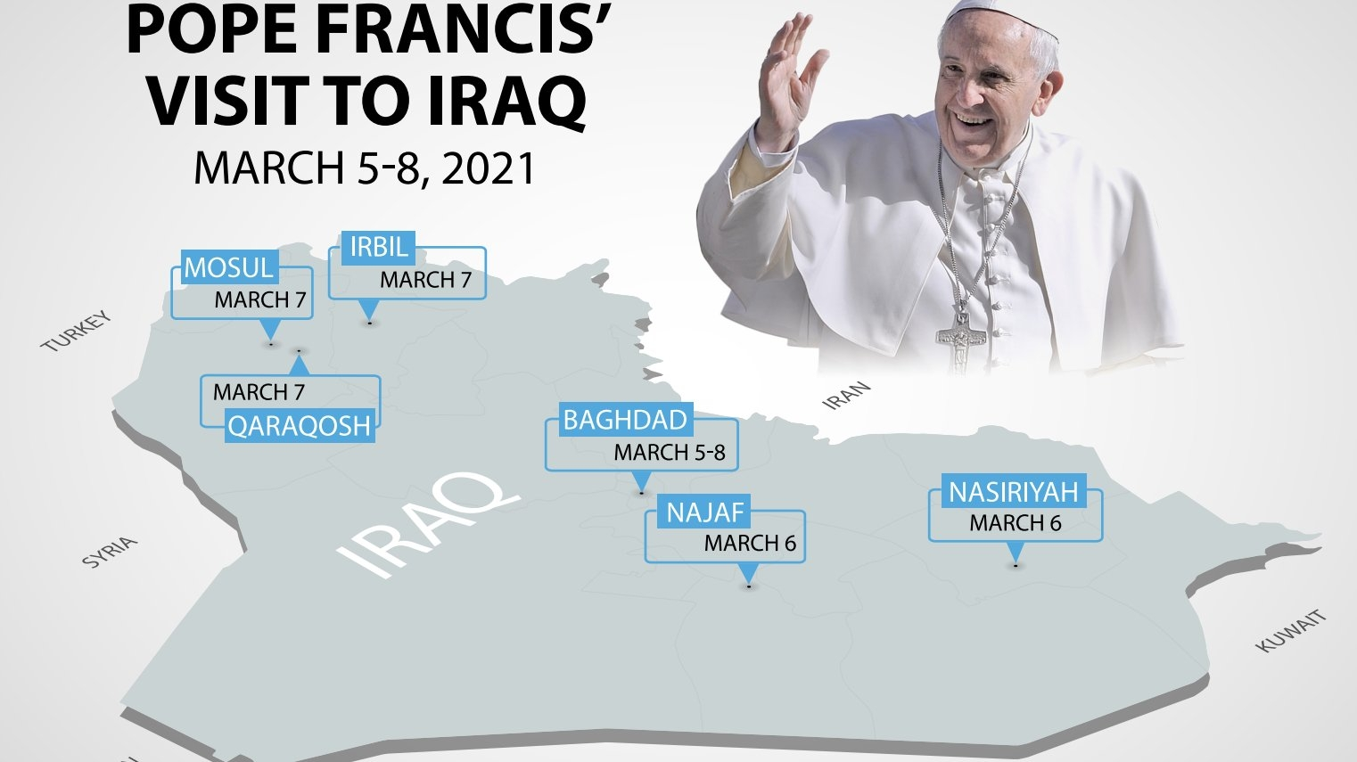 Pope to visit churches de