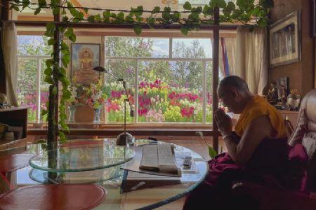 Dalai Lama prays for COVID-19 patients