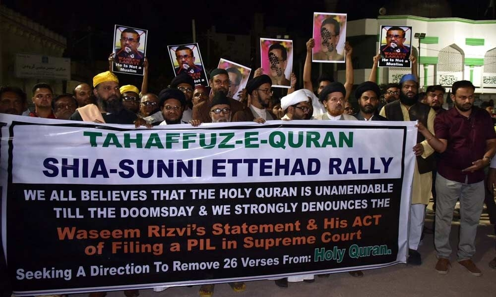Muslims protest against f