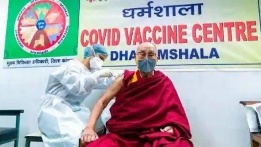 His Holiness the Dalai Lama gets vaccinated in Dharamshala