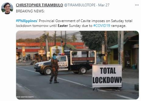 Philippines- No 'Easter'
