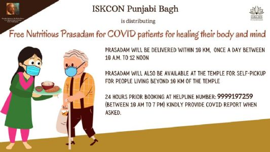 ISKCON continue to deliver healthy food for home isolated Covid patients