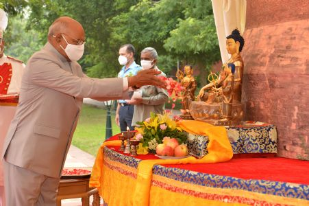 President Kovind: Buddhist values and principles will help in healing the world