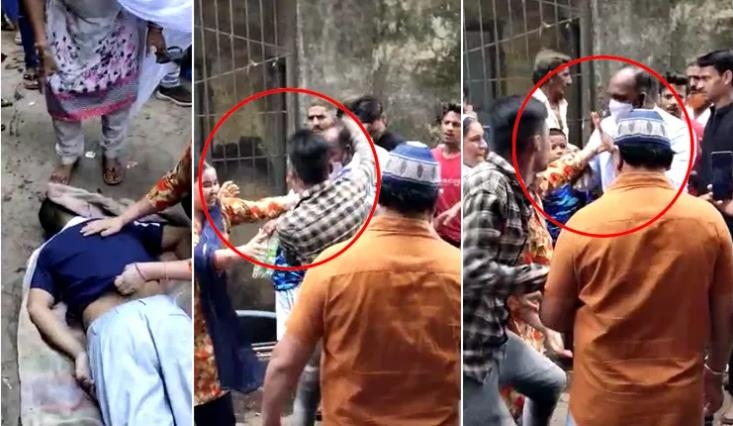 Muslim mob attacks police
