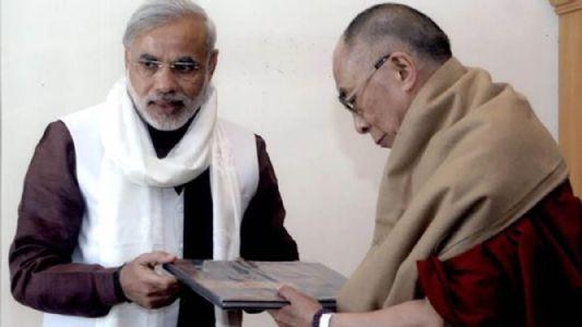 Dalai Lama greets PM Narendra Modi on 71st birthday