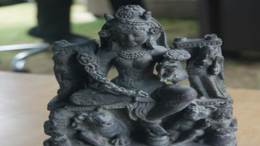 1,200-year-old Goddess Durga Idol found from river bed in Jammu & Kashmir